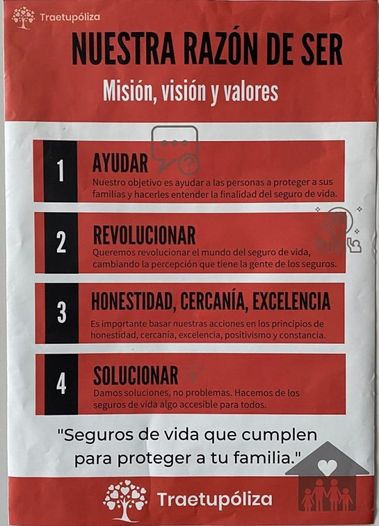 Traetupoliza Misión visión y valores